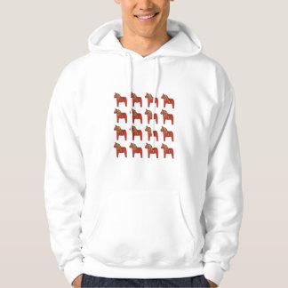 Swedish Dala Horse Pattern Hoodie