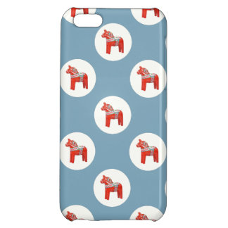 Swedish Dala Horse Scandinavian Blue Pattern iPhone 5C Cover