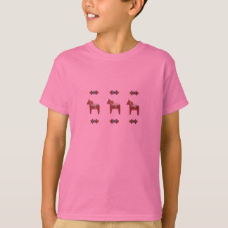 Swedish Dala Horse Scandinavian Design T-Shirt