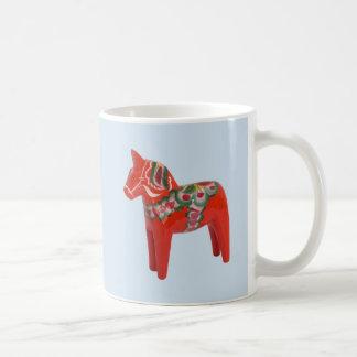 Swedish Dala Horse Scandinavian Basic White Mug