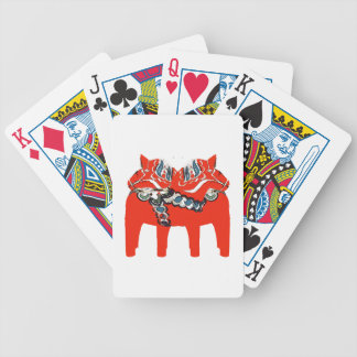 Swedish Dala Horses Apparel and Gifts Bicycle Playing Cards