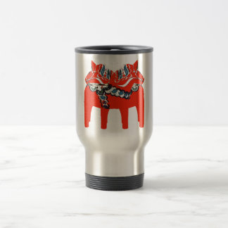 Swedish Dala Horses Apparel and Gifts Travel Mug