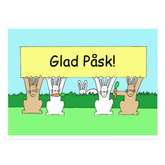 Swedish Easter Glad Påsk Postcard