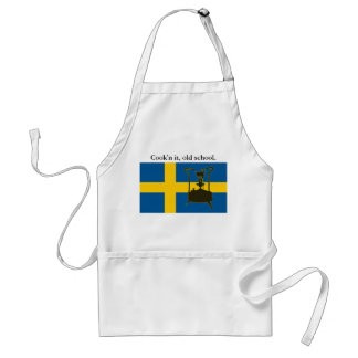 Swedish flag and Paraffin pressure stove Standard Apron