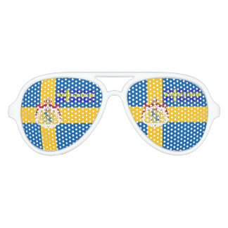 Swedish flag aviator sunglasses
