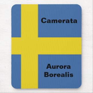 Swedish Flag, Camerata Aurora Borealis Mouse Pad