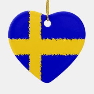 Swedish Flag Ceramic Ornament