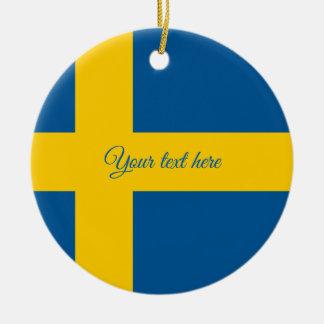 Swedish flag Christmas tree ornament for Sweden