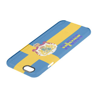 Swedish flag clear iPhone 6/6S case