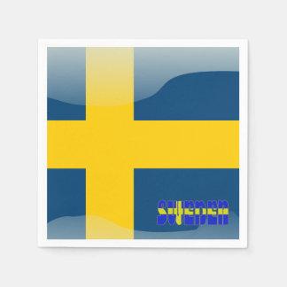 Swedish flag disposable napkin