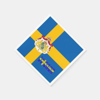 Swedish flag disposable napkins