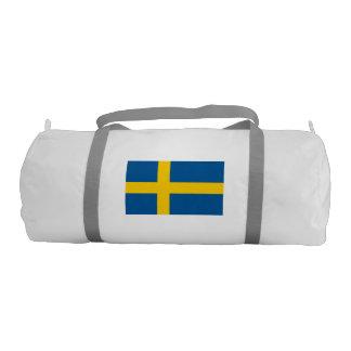 Swedish Flag Duffle Gym Bag