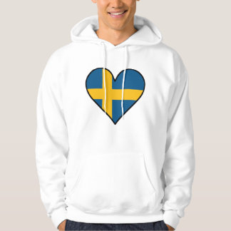 Swedish Flag Heart Hoodie