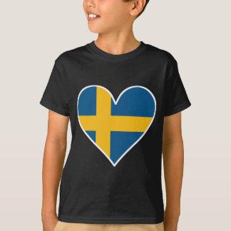 Swedish Flag Heart T-Shirt
