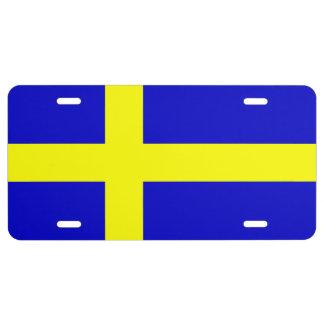 SWEDISH FLAG License Plate