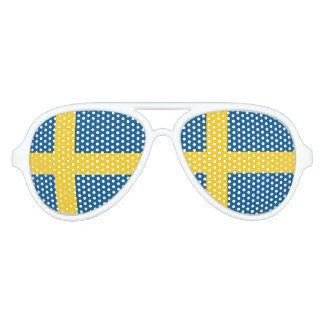Swedish flag of Sweden party shades sunglasses