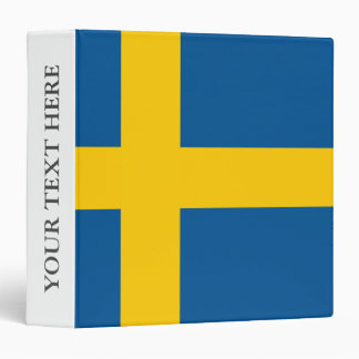Swedish flag of Sweden Scandinavian pride 3 Ring Binder