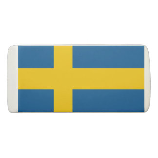 Swedish flag of Sweden Scandinavian pride Eraser