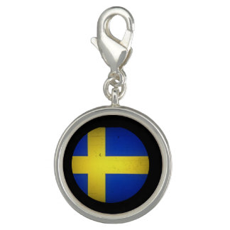 Swedish Flag Photo Charm