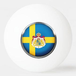 Swedish flag ping pong ball