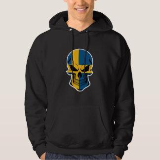 Swedish Flag Skull Hoodie