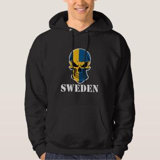 Swedish Flag Skull Sweden Hoodie