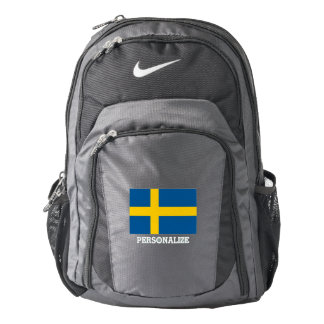 Swedish flag Sweden pride custom Nike backpack