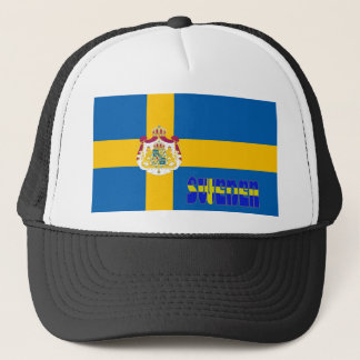 Swedish flag trucker hat