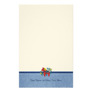 Swedish Folk Art Dala Horse  Custom Personalized Stationery