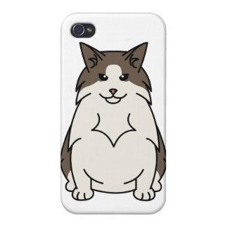 Swedish Forest Cat Cartoon iPhone 4 Cases