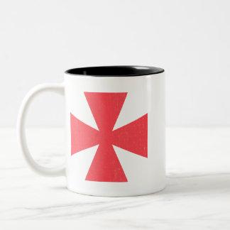 Swedish Freemasons Cross Two-Tone Coffee Mug