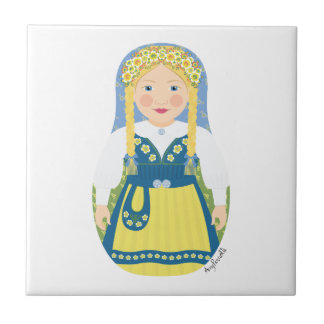 Swedish Girl Matryoshka Tile