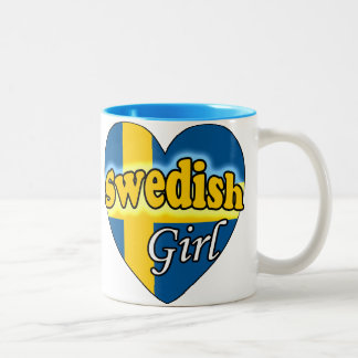 Swedish Girl Two-Tone Coffee Mug