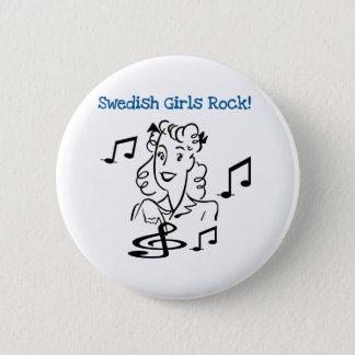 Swedish Girls Rock 2 Inch Round Button