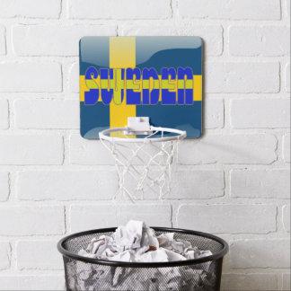 Swedish glossy flag mini basketball backboard