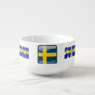 Swedish glossy flag soup mug
