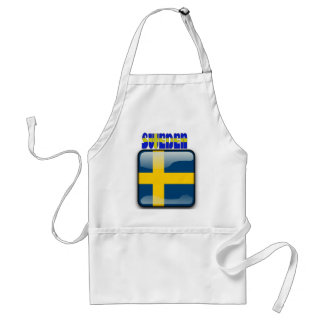 Swedish glossy flag standard apron