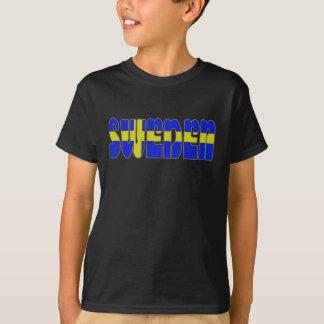 Swedish glossy flag T-Shirt