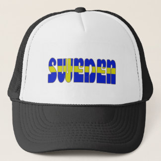 Swedish glossy flag trucker hat