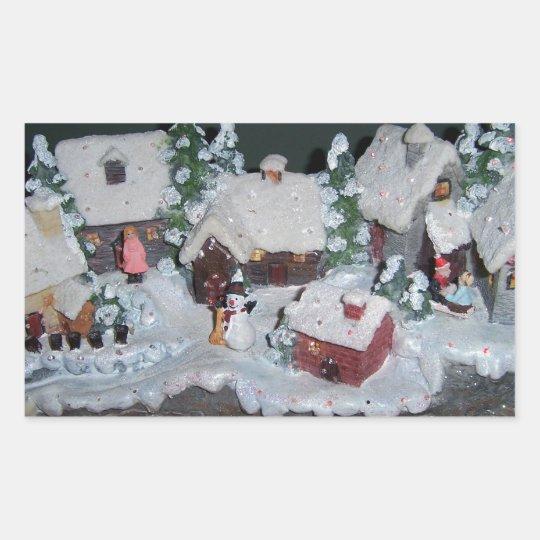Swedish Holiday Winter Scene Sticker