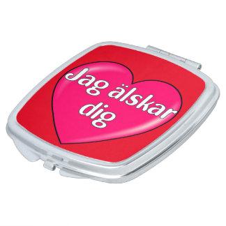 Swedish – I love you Makeup Mirrors