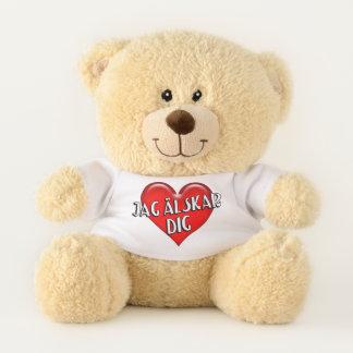 Swedish Jag Alskar Dig I Love You Red Heart Teddy Bear