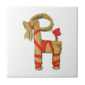 Swedish Julbock Christmas Straw Goat Tile