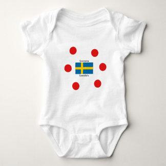 Swedish Language (Svenska) And Sweden Flag Design Baby Bodysuit