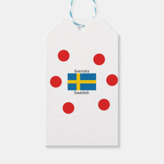 Swedish Language (Svenska) And Sweden Flag Design Gift Tags