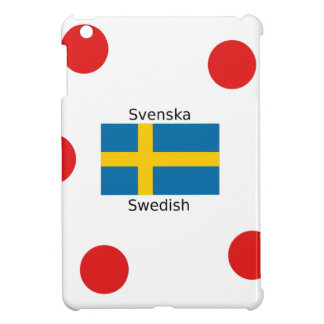 Swedish Language (Svenska) And Sweden Flag Design iPad Mini Cover