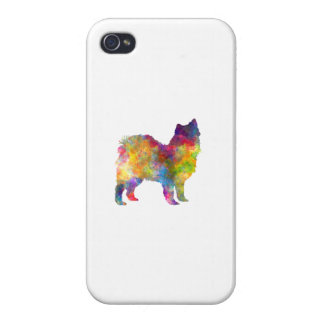 Swedish Lapphund in watercolor iPhone 4 Covers
