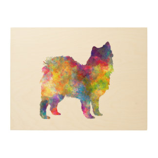 Swedish Lapphund in watercolor Wood Wall Decor