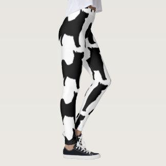 swedish lapphund silhouette leggings