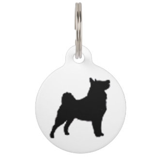 swedish lapphund silhouette pet ID tag